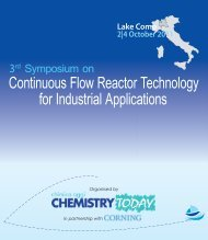 Lake Como 2|4 October 2011 - CHIMICA Oggi/Chemistry Today