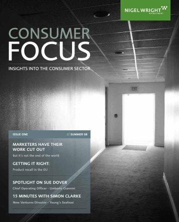 Consumer Focus magazine – Issue 1 - Nigel Wright