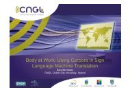 Body at Work: Using Corpora in Sign Language Machine ... - EMBOTS