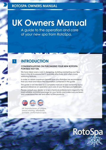 UK Owners Manual - Rotospa Limited