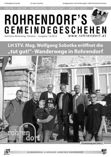 Gemeindezeitung 12/2012 - Gemeinde Rohrendorf
