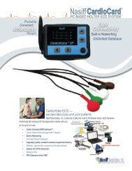 CardioHolter™ PC Based ECG Specifications - Nasiff