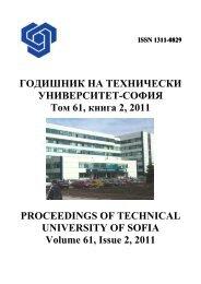 Volume 61 Issue 2 (2011) - Годишник на ТУ - София - Технически ...