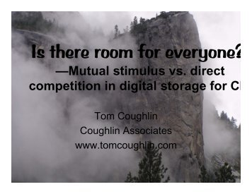 Is there Room for Everyone? (2007) - Coughlin Associates