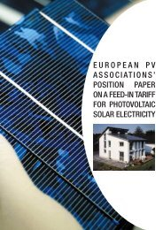 position paper on a feed-in tariff for photovoltaic ... - Czech RE Agency