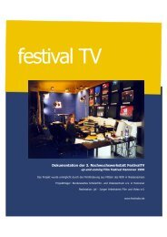 Dokumentation der 3. Nachwuchswerkstatt Festivaltv