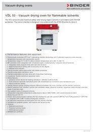 Vacuum drying ovens VDL 53