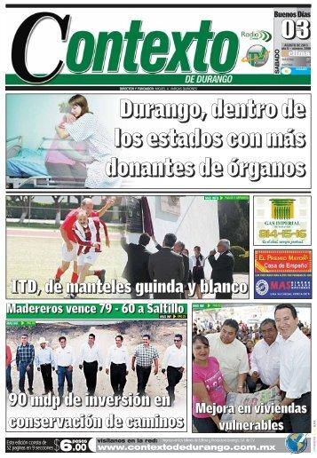 03/08/2013 - Contexto de Durango