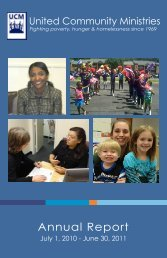 UCM Annual Report - United Community Ministries