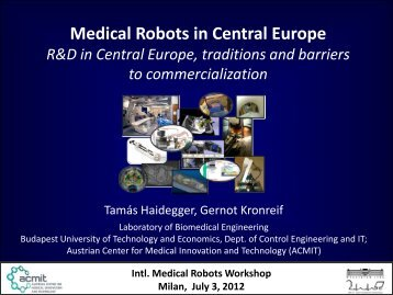 Medical Robots in Central Europe