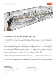 siemens messestand aUf der hannoVer messe 2012 - Triad Berlin