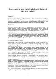 Convenzione ferroviaria fra la Santa Sede e il - Servizio di hosting