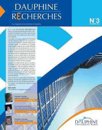 Décembre 2009 - Université Paris-Dauphine
