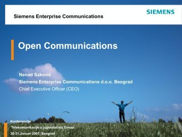 Siemens Enterprise Communications - NES Communications