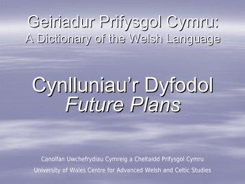 Cyflwyniad 2009.pdf - University of Wales