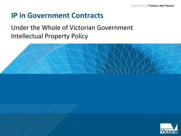 IP in Government Contracts