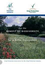 For the Benefit of Biodiversity - Voluntary Initiative