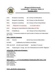 Bürgerschützenverein Lichtendorf - Geisecke 1838 e.v. Termine 2011