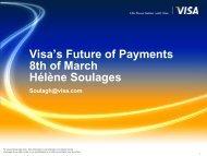 Visa's Future of Payments 8th of March Hélène Soulages - apeca