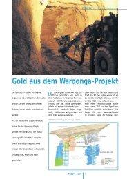 Gold aus dem Waroonga-Projekt - Thyssen Schachtbau GmbH