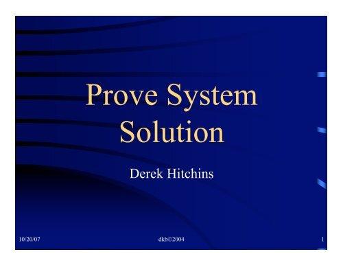 Derek Hitchins - Systems World