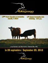 le 29 septembre / September 29, 2012 - Transcon Livestock ...