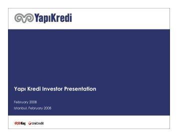 Yapı Kredi Investor Presentation