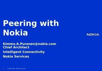 Peering with Nokia