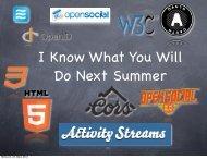 Mittwoch, 28. März 2012 - EntwicklerCamp