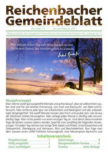 Nr. 74 Januar/Februar - bei der EFG Reichenbach