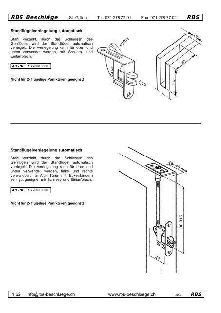 RBS Beschläge RBS - Rbs-beschlaege.ch