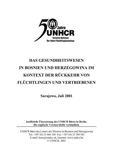 Das Gesundheitswesen im Kontext der Rückkehr von ... - UNHCR