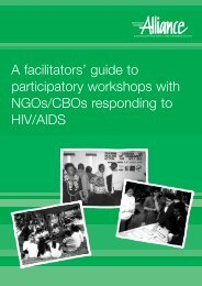 A Facilitator's Guide to Participatory Workshops with NGOs ... - icaso