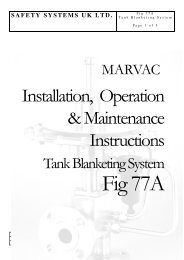 Marvac Fig. 77A (Tank Blanketing) - Safety Systems UK Ltd