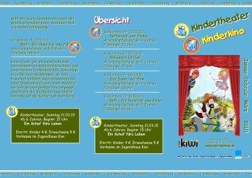Das Programm hierzu findet ihr hier. - Jugendhaus Kiwi Wernau