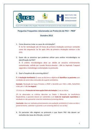 PBSP - Programa Brasileiro de Segurança do Paciente