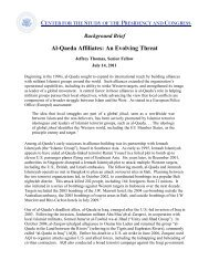 Al-Qaeda Affiliates: An Evolving Threat - Center for the Study of the ...