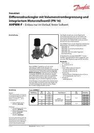 Differenzdruckregler mit Volumenstrombegrenzung und integriertem ...