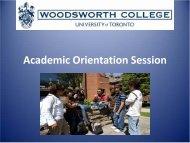 Academic Orientation Session - Woodsworth College