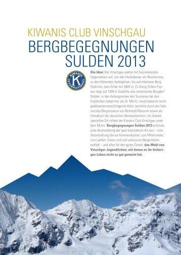 BergBegegnungen sulden 2013 - im Ortlergebiet