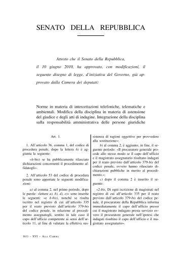 Disegno di legge senato della repubblica for Senato della repubblica