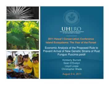 Slides from 2011 HCC - UHERO