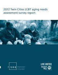2012 Twin Cities LGBT aging needs assessment survey report