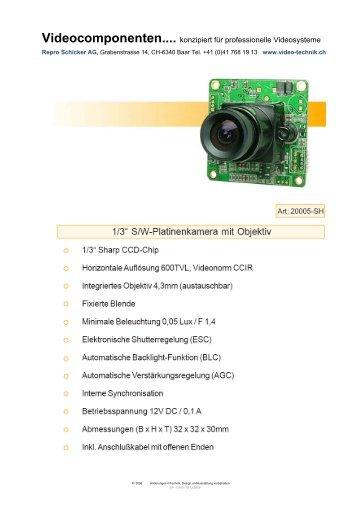 Videocomponenten.... konzipiert für professionelle Videosysteme