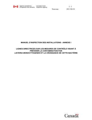 PDF (80 ko ) - Agence canadienne d'inspection des aliments