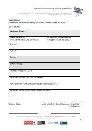 Angaben zur Umsetzung der Berufsorientierung