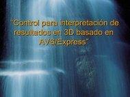 """""""Control para interpretación de resultados en 3D basado en AVS ..."""