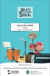Galo de Ouro - Secretaria da Cultura do Estado do Ceará - Secult - ce