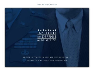 2009 Annual Report - Institute for Defense & Business
