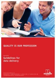 Guidelines for data delivery QUALITY IS OUR PROFESSION